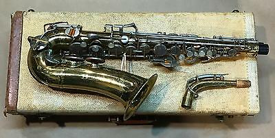 VG Orig Late 1950s BUESCHER 400 ALTO/Real 400- Back Bell Keys, Spread Bottom Bow
