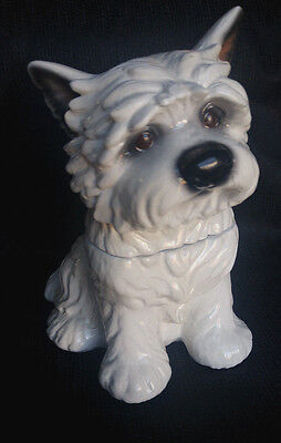 CAIRN TERRIER Treat Jar by Phyllis Driscoll - collectible ceramic jar