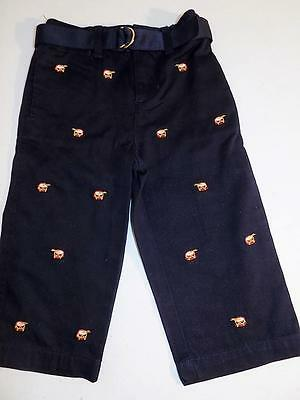 Polo Ralph Lauren Baby Boys Drums Navy Pants 100% Cotton NWT Size 12M