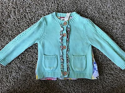 Matilda Jane Girls 6-12 Months Old Fashioned Mint Cardigan Sweater