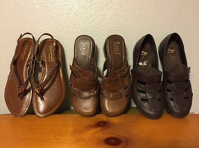 Lot of 3 pair of shoes for ladies sz: 8 1/2