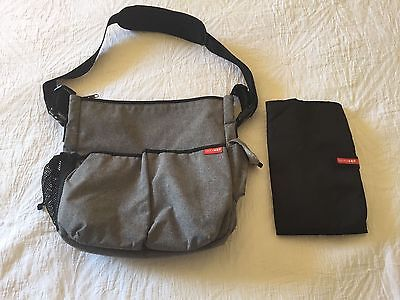 Skip Hop Nappy Bag - Heather Grey - Used Gently For A Year