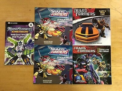 Lot Of 5 Transformers Children's Books #3020 FREE SHIPPING