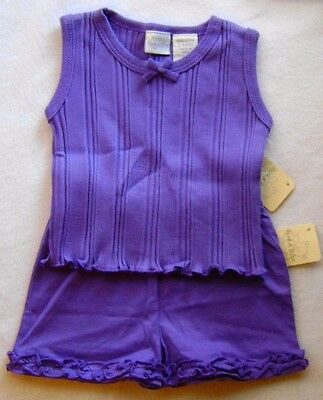 New Baby Girl's Size 3-6 Months Purple Outfit Tank And Shorts