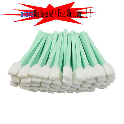 50-500pcs Foam Solvent Cleaning Swabs For Epson/Roland/Mimaki Printer Sticks