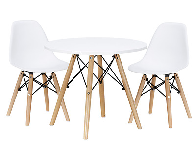 Kids Play Table and Chair Set White