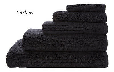 SHERIDAN Trenton Bath Sheet| Bath Towel| Hand Towel| Face Washer| Mat CARBON