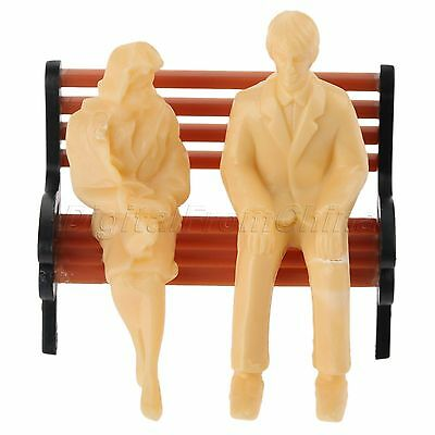 20pc Skin Colored Plain People Figures Model for Train Layout Scenery 1:30 Scale