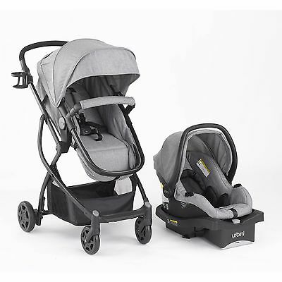 Grey Infant Travel System Combo, Special Edition Stroller and Car Seat Bassinet