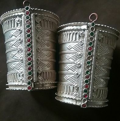 Pure silver Indian tribal rajasthan cuff bracelets