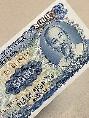 Vietnamese Dong 5000 Uncirculated Banknote VND SALE BUY 4 GET 1 FREE!