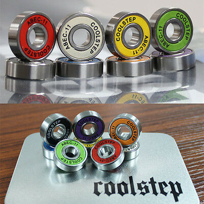 8pcs/set ABEC-11 608ZB Skateboard Ball Bearing Longboard Rollerblade Wheel