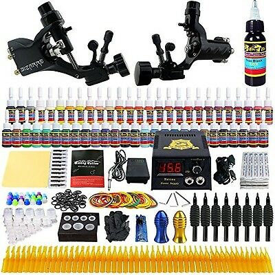Solong Tattoo® Complete Tattoo Kit 2 Pro Rotary Tattoo Machine Guns 54 Inks