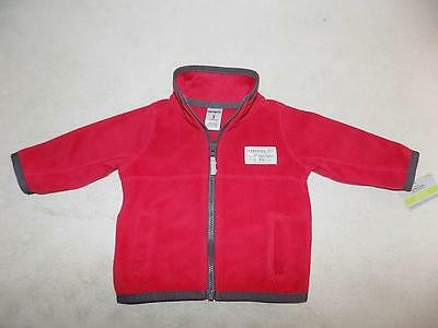 Carter's Baby Boys Red Zipper Jacket Polyester NWT Size 3M