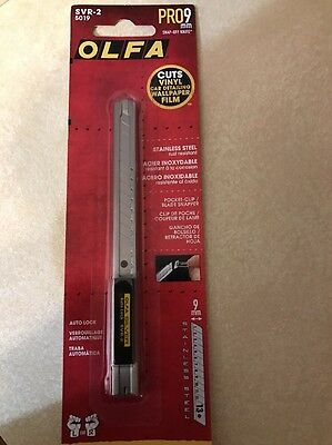 OLFA PRO 9mm RAZOR KNIFE 5019 SVR-2 Stainless Steel Auto-Lock Utility tint decal