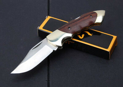 BRN High Quality Lockback Knife Folding Sharp Saber Outdoor Survival Rescue Tool