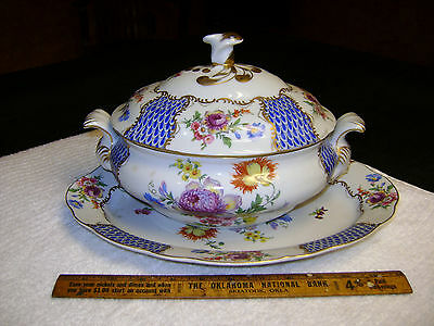 Vintage Paris Royale Porcelain Lg Covered Serving Tureen & Platter
