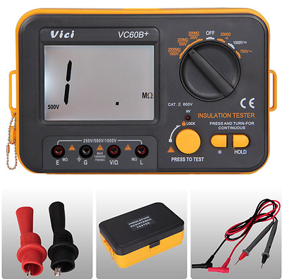 New Digital Insulation Resistance Tester VC60B+  Megger Meg Ohm Meter 500/1000V