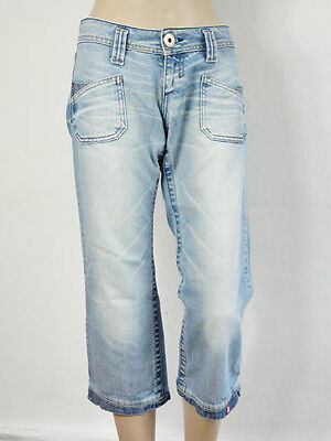 Aktion! EDC BY ESPRIT Jeans Hose Gr. 32 Damen Hellblau Trousers Denim