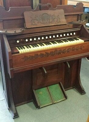 Antique Estey Push Pedal Organ - Sold by W.H.Paling & Co - Working