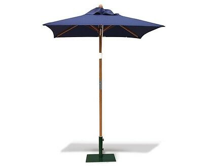 Square Garden Parasol 1.5m - Outdoor Umbrella Shade - FSC hardwood - 5 colours
