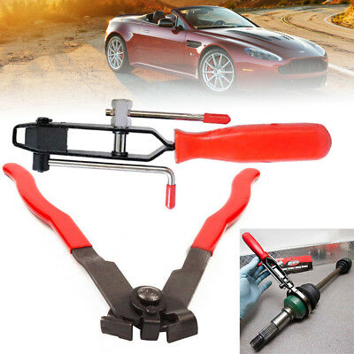 2PC CV Joint Boot Clamp Pliers Tool Set Ear Type Car Banding Kit Dustproof USA