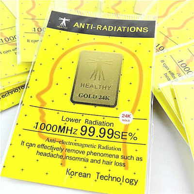 Anti-Radiation Prevention Gold 24K Sticker/Shield for Cell Phone- Tablet New