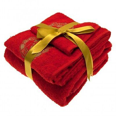 Manchester United FC Official Football Gift 3 Piece Towel Set