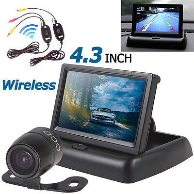 """4.3"""" Car Rearview Monitor+CMOS Backup Camera+Wireless Video Transmitter+Receiver"""