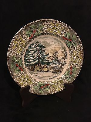Vintage Adams England Winter Scenes Snowed Up Ruffed Grouse Plate