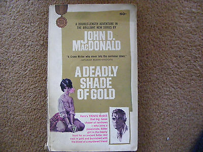 "Vintage 1st Edition Novel ""A Deadly Shade Of Gold"" by John D MacDonald 1965"