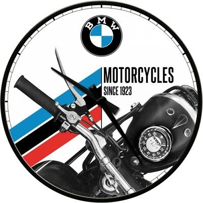 Nostalgic-Art - Wanduhr - 31cm - BMW - Motorcycles Since 1923