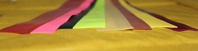 Fly Tying Latex rubber strip 8 colours flexy stretchy segmented bodies backs