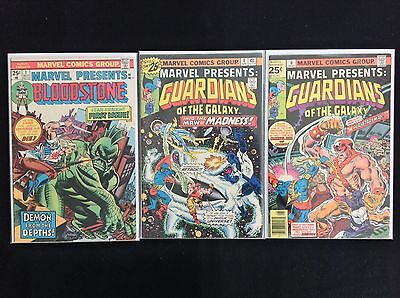 MARVEL PRESENTS Lot of 3 Marvel Comic Books - #1 4 6 - Guardians of the Galaxy!