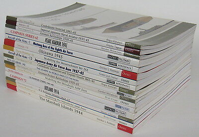 LOT OF 17 Osprey Military Modelling Books WWII Airplanes Soldiers Battleships ++
