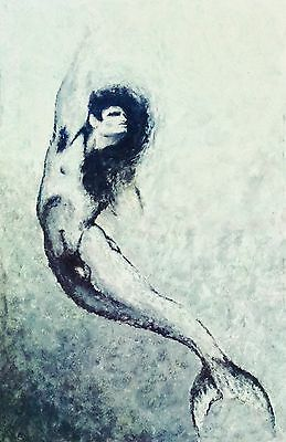 """""""the Merman"""", Signed Giclee Canvas Print By Tom Ford 24x36"""