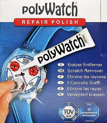Polywatch Scratch Removal Repair for Plastic Acrylic Watch Glasses Crystals NWT