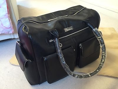 Milliesbag Large Leather Baby Changing Bag Classic Black - Brand New