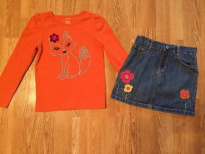 Gymboree Girls 2pc. Top Skirt Outfit Size 7/8