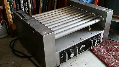 STAR COMMERCIAL HOT DOG ROLLER CONCESSION MACHINE with sneeze guard