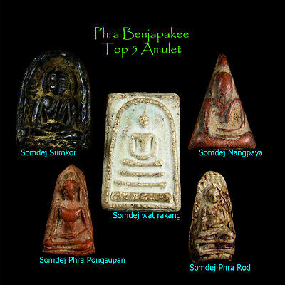 Thai Amulet Buddha Ancient Phra Benjapakee Somdej Top 5 Collection Vey Rare