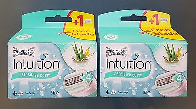 Brand New - Wilkinson Sword Intuition Sensitive Razor Blades  - Pack Of 4 + Free