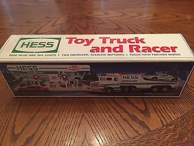 1991 Hess Toy Truck And Racer -- New In Box Free Ship