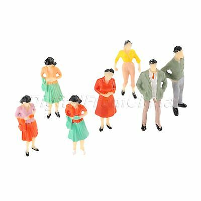 100pcs Painted Pose Assorted Figures Model for Train Layout Scenery 1:100 Scale