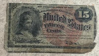 1863 15 Cents Fractional Currency Fourth Issue