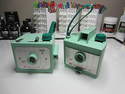 Imperial Camera Vintage Savoy and Savoy Mark II Cameras - Mint Green Cameras