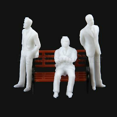 100pcs New Seated People Figure Model Train Architecture Layout Scenery HO 1:100