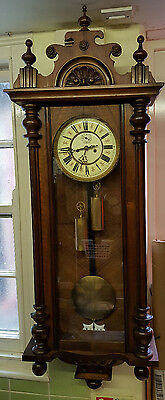 Vintage Germania Double Weight Driven Vienna Wall Clock with Strike