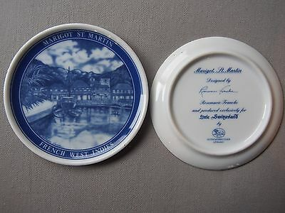 2 Hutschenreuther Germany Marigot St. Martin French West Indies Plate