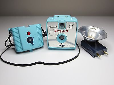Vintage Blue Imperial Satellite 127 Flash Camera - with Blue Flash